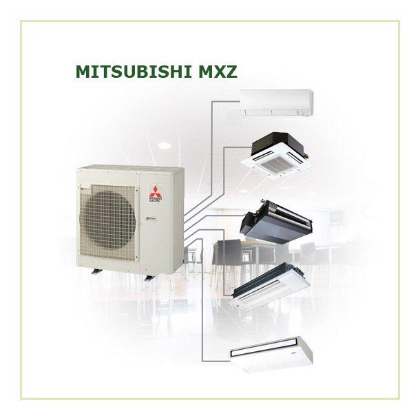 Varmepumpe<br>Mitsubishi MXZ-MULTI<br>2-6 indedele