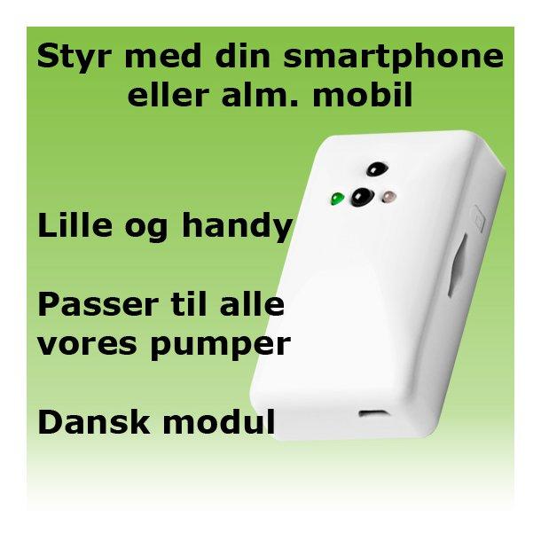 GSM / SMS-modul - styr din pumpe med mobilen<br>