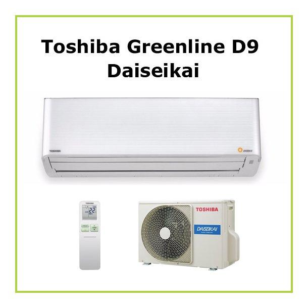 Varmepumpe Toshiba<br>Greenline D9 35<br>7,7 kW